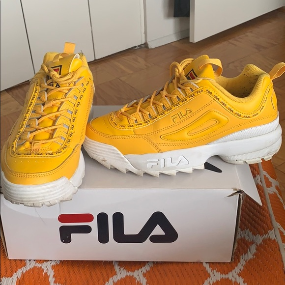 Yellow Fila Womens Sneakers | Poshmark
